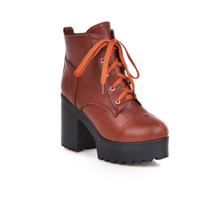 High Heeled Short Boots Waterproof Thick Heel Sole Boots