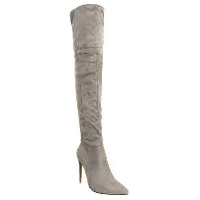 Female Winter Boots Over The Knee Boots High Heel Suede Boots