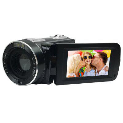 Buy BLACK HD 1080P 24MP 18X Digital Zoom Video Camcorder with 2.7 inch Screen Camera Camcorders for $109.27 in GearBest store