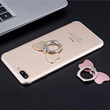Bowknot Cell Phone Finger Ring Movie Grip Universal Smartphone Sticky Stand / Holder / Kickstand