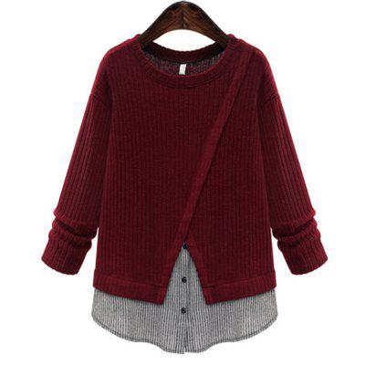 Women Stitched a Long Sleeved Knitwear