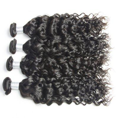 Buy BLACK 26INCH Malaysian Water Wave Virgin Human Hair Extension Natural Color 1 bundle 12inch 26inch for $81.11 in GearBest store