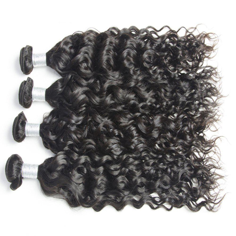Malaysian Water Wave Virgin Human Hair Extension Natural Color 1 bundle 12inch - 26inch 18INCH BLACK