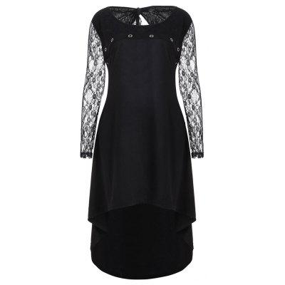 Large Size Women's Lace Stitching Dress