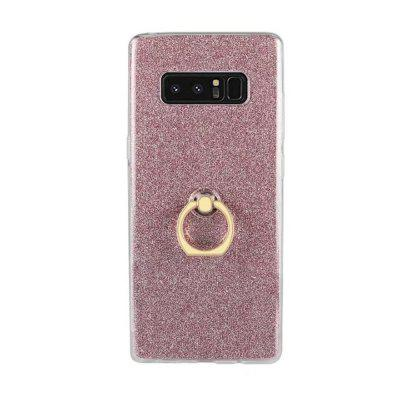 Girls Bling Glitter Sparkle Cute Phone With 360 Rotating Ring Stand Soft TPU Outer Cover  for Samsung Galaxy Note 8 Case