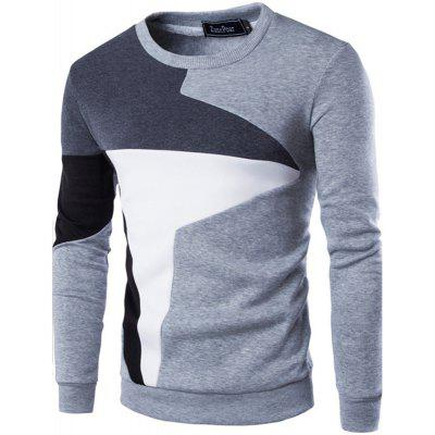 Spring New Men'S Casual Long-Sleeved Wind Hit The Color Stitching Hedging Sweatshirt