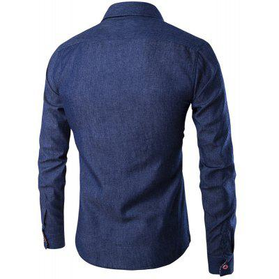 Denim Mens Cowboy Style Shirt Man Causal Fashion Full Sleeve Cotton Slim Fit Solid Shirts ClothesMens Shirts<br>Denim Mens Cowboy Style Shirt Man Causal Fashion Full Sleeve Cotton Slim Fit Solid Shirts Clothes<br><br>Collar: Turn-down Collar<br>Material: Jeans<br>Package Contents: 1 x Shirts<br>Shirts Type: Casual Shirts<br>Sleeve Length: Full<br>Weight: 0.2500kg