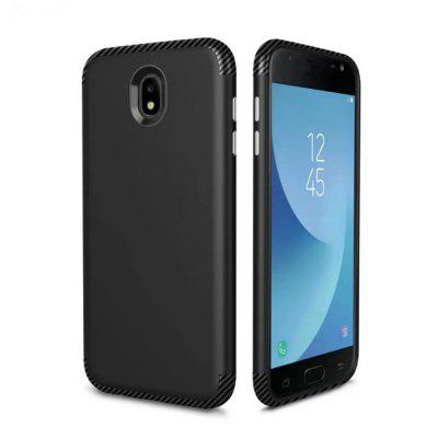 Luxury Shockproof Back Cover Carbon Fiber TPU + PC Protective Case for Samsung J530