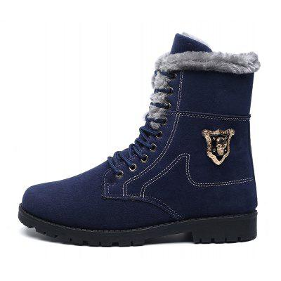 """Winter Lace Plus Cashmere Warm MenS ShoesMens Boots<br>Winter Lace Plus Cashmere Warm MenS Shoes<br><br>Boot Height: Ankle<br>Boot Type: Snow Boots<br>Closure Type: Lace-Up<br>Embellishment: Sequined<br>Gender: For Men<br>Heel Hight: Flat(0-0.5"""")<br>Heel Type: Others<br>Outsole Material: Rubber<br>Package Contents: 1xShoes(pair)<br>Pattern Type: Others<br>Season: Winter<br>Toe Shape: Round Toe<br>Upper Material: Flock<br>Weight: 1.2800kg"""