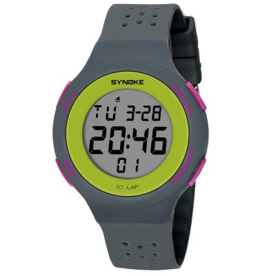 SYNOKE 67866 Slim Trendy Waterproof Unisex Electronic WatchLED Watches<br>SYNOKE 67866 Slim Trendy Waterproof Unisex Electronic Watch<br><br>Band material: PU<br>Band size: 24.5 x 2.002cm<br>Brand: Synoke<br>Case material: ABS<br>Clasp type: Pin buckle<br>Dial size: 4.394 x 4.394 x 1.014cm<br>Display type: Digital<br>Hour formats: 12/24 Hour<br>Movement type: Digital watch<br>Package Contents: 1 x Watch<br>Package size (L x W x H): 12.50 x 8.00 x 9.00 cm / 4.92 x 3.15 x 3.54 inches<br>Package weight: 0.0399 kg<br>People: Female table,Male table<br>Product size (L x W x H): 24.50 x 4.39 x 1.01 cm / 9.65 x 1.73 x 0.4 inches<br>Product weight: 0.0371 kg<br>Shape of the dial: Round<br>Special features: Alarm Clock, Stopwatch, Luminous, Date<br>Watch mirror: Acrylic<br>Watch style: Outdoor Sports<br>Water resistance: 50 meters