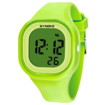 SYNOKE 66896 Waterproof Silicone Band Couple Electronic Watch, Multificional waterproof wrist watch