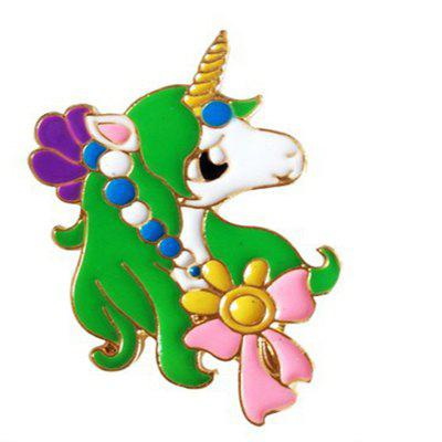 2017 Newest Design Oil Unicorn Alloy Brooch Pin for Christmas Gift