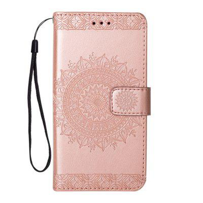 Totem Design Embossed Wallet Flip PU Leather Card Holder Standing Phone Case for iPhone 7/8 4.7 Inch