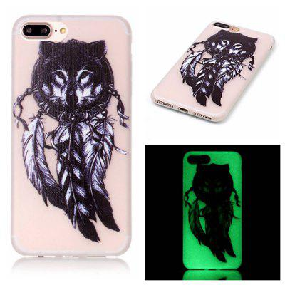 Wolf Luminous Ultra Thin Slim Soft TPU caso de silicone para iPhone 7 Plus / 8 Plus