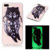 Wolf Luminous Ultra Thin Slim Soft TPU caso de silicone para iPhone 7 Plus / 8 Plus - COLORIDA