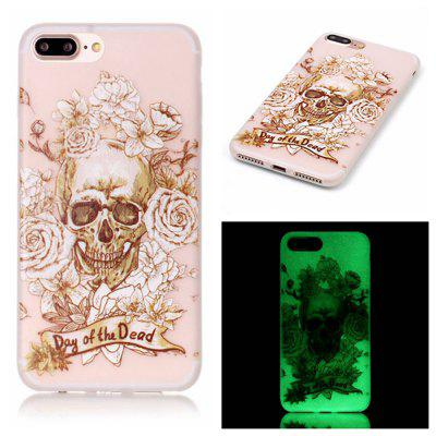 O Skeleton Luminous Ultra Thin Slim Soft TPU Silicone Case para iPhone 7 Plus / 8 Plus