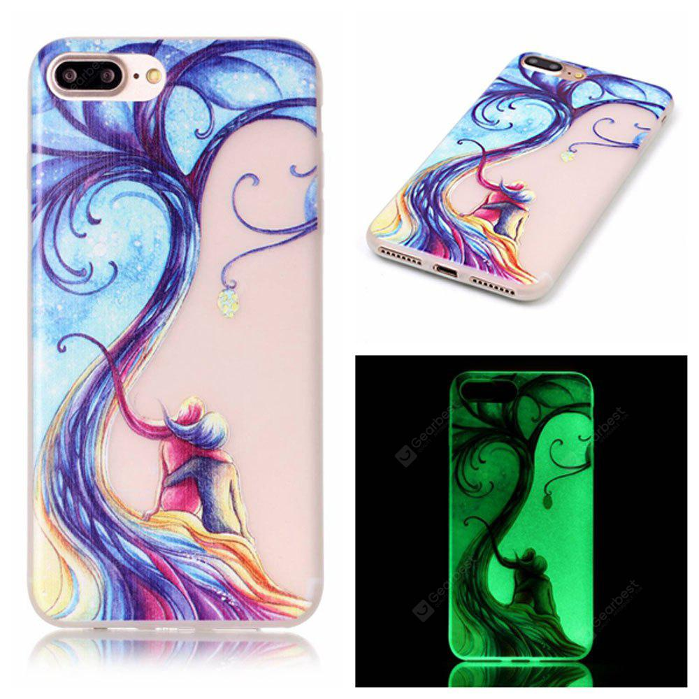 Custodia in silicone TPU ultra sottile sottile per iPhone Lover Tree per iPhone 7 Plus / 8 Plus
