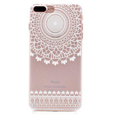 Fashion Relief Ultra Thin weiche transparente PC zurück Fall Deckung für iPhone 7 Plus / 8 Plus