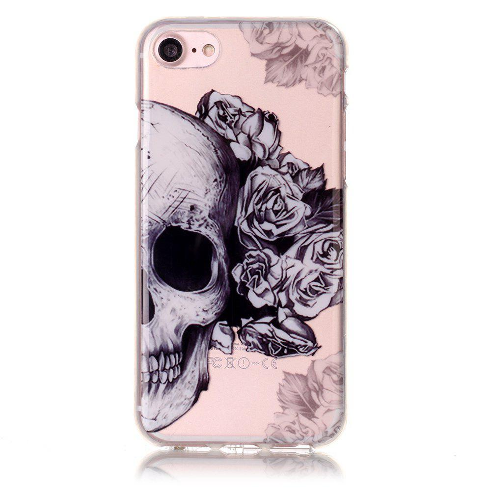 Skeleton Flower Soft Silicon Cover para iPhone 7/8