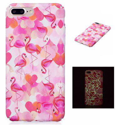 Flamingos Luminous Ultra Thin Schlank Hart PC Case für iPhone 7 Plus / 8 Plus