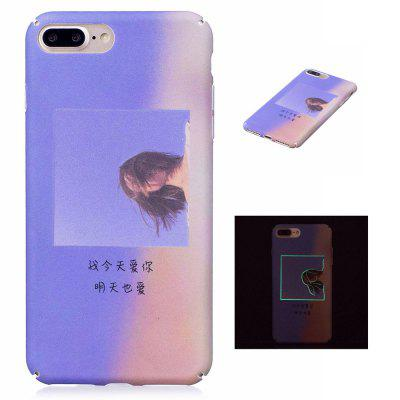 The Girl Luminous Ultra Thin Slim Hard Case para iPhone 7 Plus / 8 Plus