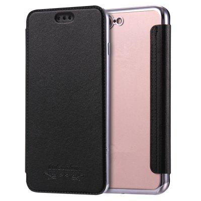 Custodia Flip in pelle PU Folio con Slot per schede Cover posteriore in TPU trasparente per iPhone 7 Plus / 8 Plus