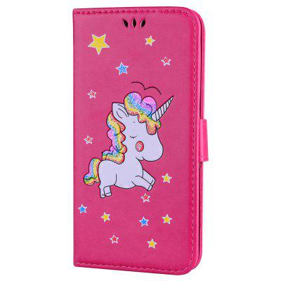 Flash Powder Unicorn Premium PU Leder Handyhülle für iPhone 6 / 6S