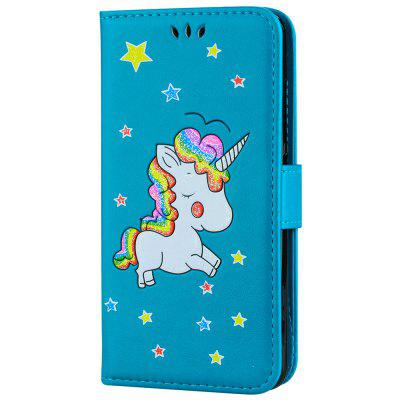 Flash Powder Unicorn Premium Leather Leather Phone Case para Xiaomi Redmi Note 3