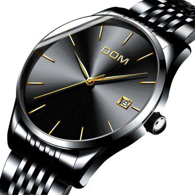 DOM m - 11bk 4892 Business Casual Waterproof Steel Band Men Watch