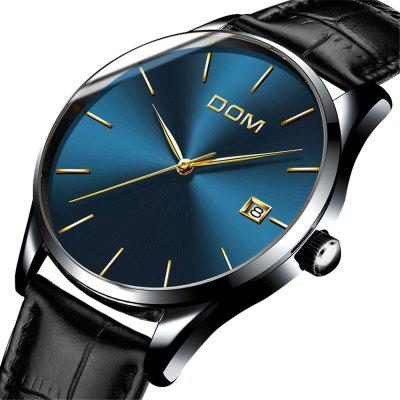 DOM M - 11bk 4892 Fashion Casual Waterproof Men WatchMens Watches<br>DOM M - 11bk 4892 Fashion Casual Waterproof Men Watch<br><br>Band material: Leather<br>Band size: 21 x 2cm<br>Brand: DOM<br>Case material: Alloy<br>Clasp type: Pin buckle<br>Dial size: 4 x 4 x 0.7cm<br>Display type: Analog<br>Movement type: Quartz watch<br>Package Contents: 1 x Watch, 1 x Box<br>Package size (L x W x H): 28.00 x 8.00 x 3.50 cm / 11.02 x 3.15 x 1.38 inches<br>Package weight: 0.0750 kg<br>Product size (L x W x H): 21.00 x 4.00 x 0.70 cm / 8.27 x 1.57 x 0.28 inches<br>Product weight: 0.0450 kg<br>Shape of the dial: Round<br>Watch mirror: Mineral glass<br>Watch style: Casual, Business, Fashion<br>Watches categories: Men<br>Water resistance: 30 meters<br>Wearable length: 21 - 25cm