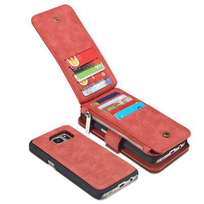 Multi-functional Leather Separable Zipper Purse Holster for Samsung Galaxy S7 Edg