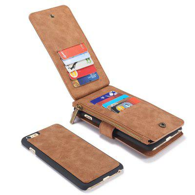 Luxury Retro Leather Multifunction Magnetic Case Card Zipper Wallet Back for iPhone 6iPhone Cases/Covers<br>Luxury Retro Leather Multifunction Magnetic Case Card Zipper Wallet Back for iPhone 6<br><br>Color: Black,Red,Brown<br>Compatible for Apple: iPhone 6<br>Features: With Credit Card Holder, Vertical Top Flip Case, Anti-knock, FullBody Cases<br>Material: TPU, Genuine Leather<br>Package Contents: 1 x Phone Case<br>Package size (L x W x H): 25.00 x 15.00 x 5.00 cm / 9.84 x 5.91 x 1.97 inches<br>Package weight: 0.1800 kg<br>Product weight: 0.1700 kg<br>Style: Solid Color