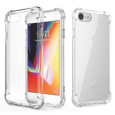 Crystal Clear Shock Absorption Reforçado Corners TPU Bumper Cushion + Hybrid Rugged Transparent Panel Cover para iPhone 7/8