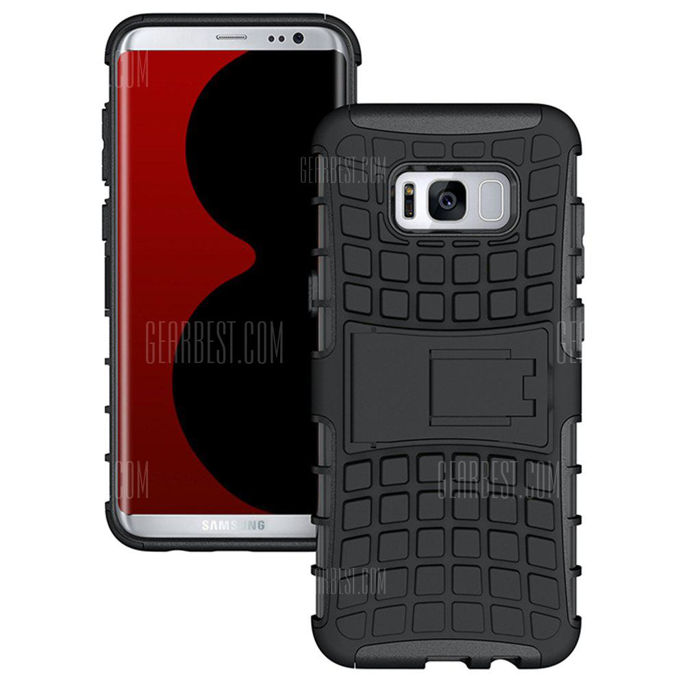Tire Combo Grain Water Sets Protective Mobile Phone Shell Holder Clip Slip Drop Resistance Seismic Phone Case for Samsung Galaxy S8 Plus