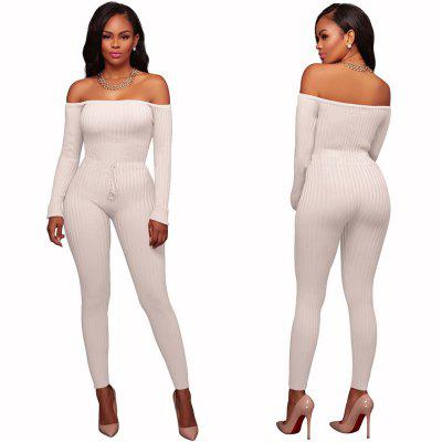 Party Ladies High Elastic Thread Long Sleeve JumpsuitsJumpsuits &amp; Rompers<br>Party Ladies High Elastic Thread Long Sleeve Jumpsuits<br><br>Elasticity: Super-elastic<br>Fabric Type: Worsted<br>Fit Type: Skinny<br>Material: Cotton<br>Package Contents: 1 x Jumpsuit<br>Package weight: 0.4000 kg<br>Pattern Type: Others<br>Style: Casual<br>With Belt: No