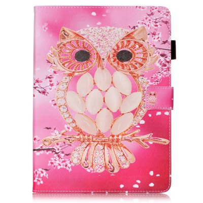 Wkae Mixed Colors Painted Three Dimensional Pattern Flat Leather Case for iPad Air 2 / iPad 6