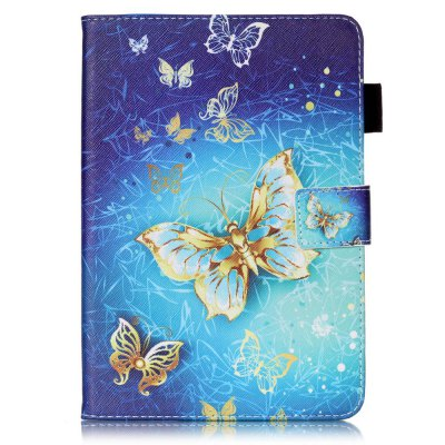 Wkae Mixed Colors Painted Three Dimensional Pattern Flat Leather Case for iPad Mini 4