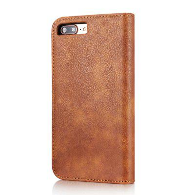 DG.MING Premium Genuine Cowhide Leather Case with Detachable Magnetic Back Cover for iPhone 7 Plus / 8 Plus mercury goospery milano diary wallet leather mobile case for iphone 7 plus 5 5 grey
