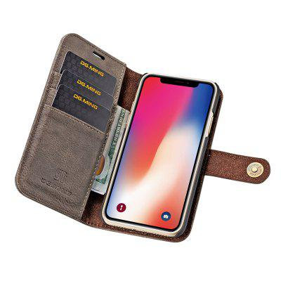 DG.MING Premium Genuine Cowhide Leather Case with Detachable Magnetic Back Cover for iPhone XiPhone Cases/Covers<br>DG.MING Premium Genuine Cowhide Leather Case with Detachable Magnetic Back Cover for iPhone X<br><br>Compatible for Apple: iPhone X<br>Features: With Credit Card Holder<br>Material: Genuine Leather<br>Package Contents: 1 x Phone Case<br>Package size (L x W x H): 19.00 x 15.00 x 5.00 cm / 7.48 x 5.91 x 1.97 inches<br>Package weight: 0.1500 kg<br>Product weight: 0.0650 kg<br>Style: Vintage