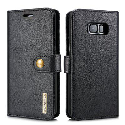 DG.MING Premium Genuine Cowhide Leather Case with Detachable Magnetic Back Cover for Samsung Galaxy S8 Plus