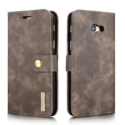 DG.MING Premium Genuine Cowhide Leather Case with Detachable Magnetic Back Cover for Samsung Galaxy A720