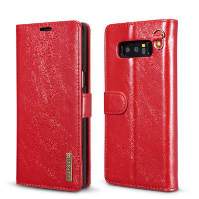 DG.MING Microfiber Genuine Leather 2 in 1 Stand Case for Samsung Galaxy Note 8