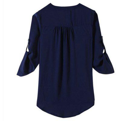 Chiffon Big Size V Collar ShirtBlouses<br>Chiffon Big Size V Collar Shirt<br><br>Collar: V-Neck<br>Elasticity: Nonelastic<br>Embellishment: Spliced<br>Fabric Type: Chiffon<br>Material: Polyester<br>Package Contents: 1 x Shirt<br>Pattern Type: Solid<br>Shirt Length: Regular<br>Sleeve Length: Full<br>Style: Streetwear<br>Weight: 0.1200kg