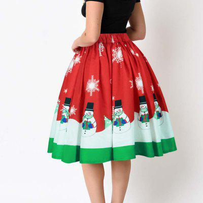 Christmas Snowman Digital Zipper Waist Pleated SkirtSkirts<br>Christmas Snowman Digital Zipper Waist Pleated Skirt<br><br>Elasticity: Elastic<br>Fabric Type: Broadcloth<br>Length: Knee-Length<br>Material: Polyester<br>Package Contents: 1?Skirt<br>Package weight: 0.3000 kg<br>Pattern Type: Others<br>Silhouette: Ball Gown<br>With Belt: No