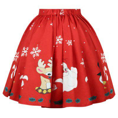 Digital Printing Christmas Fashion Pleated Waist SkirtSkirts<br>Digital Printing Christmas Fashion Pleated Waist Skirt<br><br>Elasticity: Elastic<br>Fabric Type: Broadcloth<br>Length: Mid-Calf<br>Material: Polyester<br>Package Contents: 1?Skirt<br>Package weight: 0.3000 kg<br>Pattern Type: Others<br>Silhouette: Ball Gown<br>With Belt: No