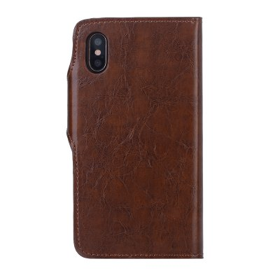 2 in 1 Oil Wax Pattern PU Leather Case for iPhone XiPhone Cases/Covers<br>2 in 1 Oil Wax Pattern PU Leather Case for iPhone X<br><br>Compatible for Apple: iPhone X<br>Features: Back Cover, Cases with Stand, With Credit Card Holder, Anti-knock, Dirt-resistant, FullBody Cases, Wallet Case<br>Material: PU<br>Package Contents: 1 x Phone Case<br>Package size (L x W x H): 20.00 x 15.00 x 2.20 cm / 7.87 x 5.91 x 0.87 inches<br>Package weight: 0.0900 kg<br>Style: Vintage, Leather, Solid Color, Vintage/Nostalgic Euramerican Style, Colorful
