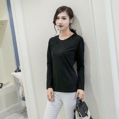 100% Cotton Stretch Round Neck Long Sleeve T-shirtTees<br>100% Cotton Stretch Round Neck Long Sleeve T-shirt<br><br>Collar: Round Neck<br>Elasticity: Micro-elastic<br>Fabric Type: Terry<br>Material: Cotton, Spandex<br>Package Contents: 1xT-shirt<br>Pattern Type: Solid<br>Shirt Length: Regular<br>Sleeve Length: Full<br>Style: Casual<br>Weight: 0.2500kg
