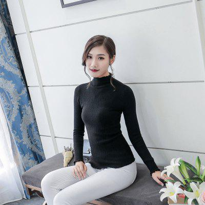 Y02 Womens Lace Self-cultivation SweaterSweaters &amp; Cardigans<br>Y02 Womens Lace Self-cultivation Sweater<br><br>Collar: Turtleneck<br>Elasticity: Micro-elastic<br>Material: Rayon<br>Package Contents: 1xSweater<br>Sleeve Length: Full<br>Style: Casual<br>Type: Pullovers<br>Weight: 0.2500kg