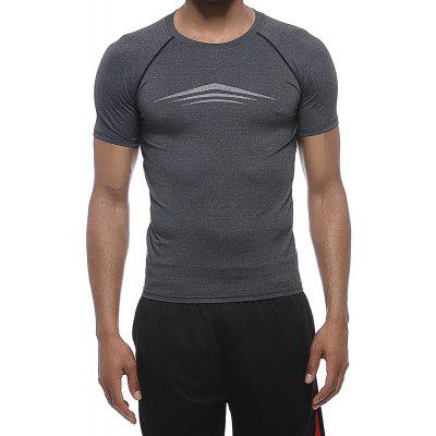 Men'S Fashion Quick-drying Tight Fitness Short Sleeves Breathable Sports Gym Clothes