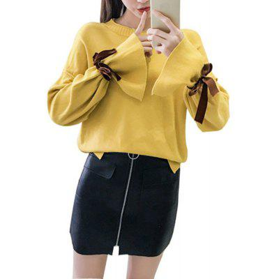 New Bow Tie Knit Fashion Sweater